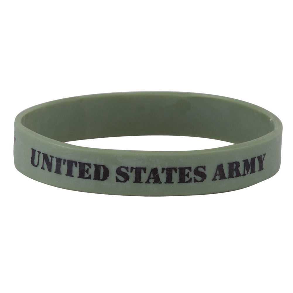 Army Silicone Wristband - Olive - Hats and Caps Online Shop - Hip Head Gear