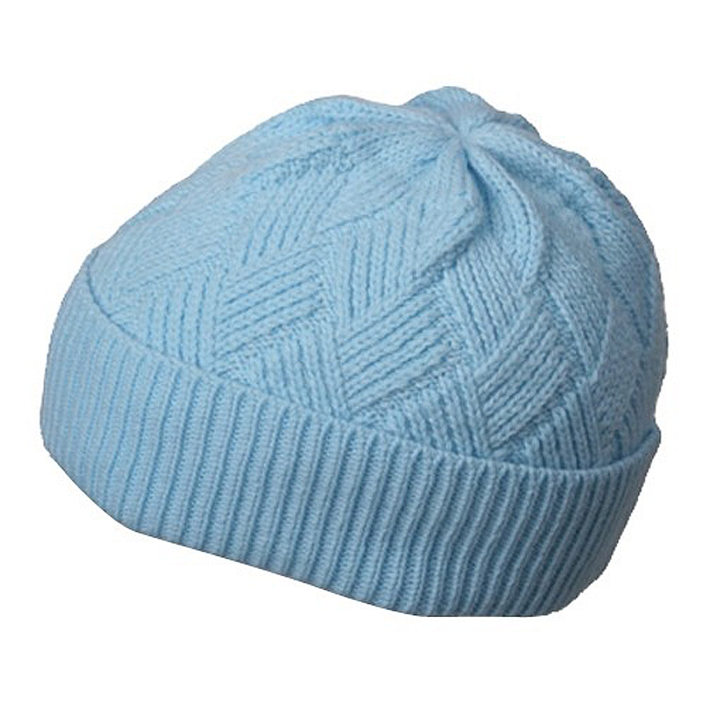 Acrylic Short Beanie-Sky - Hats and Caps Online Shop - Hip Head Gear