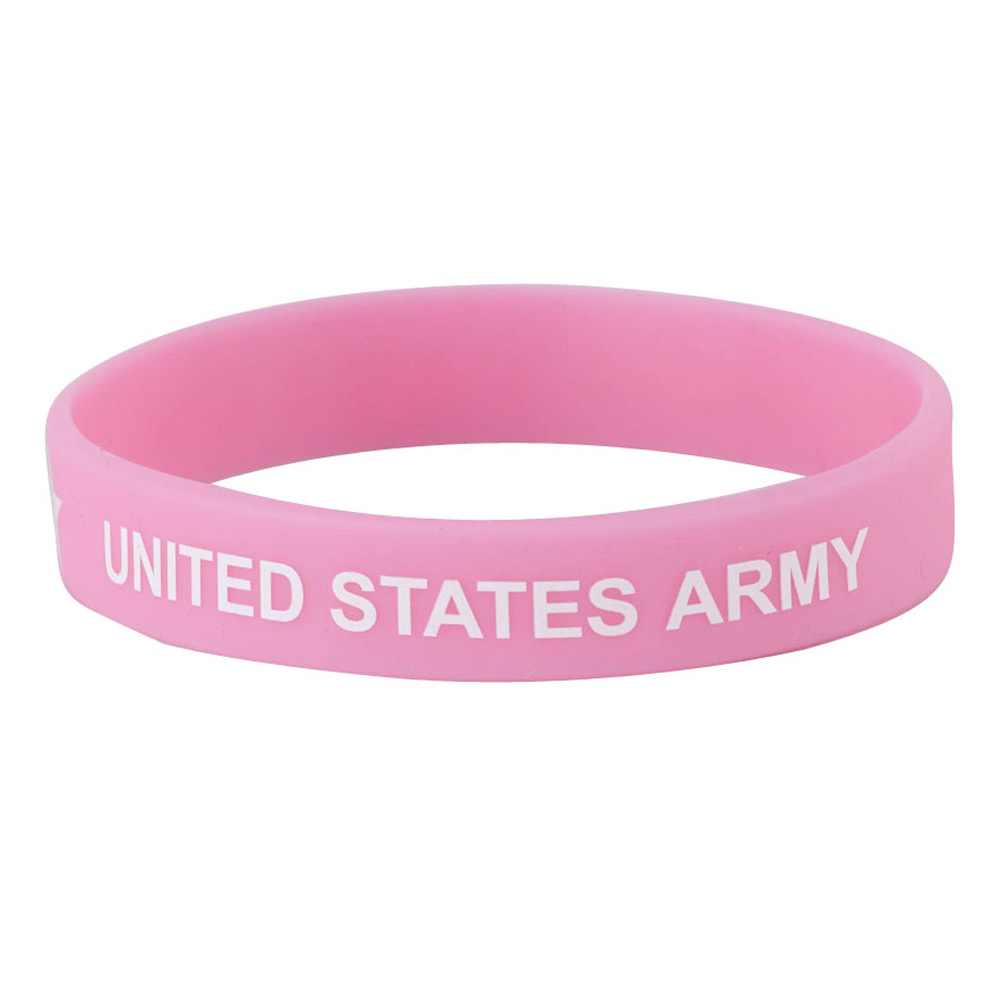 Army Silicone Wristband - Pink - Hats and Caps Online Shop - Hip Head Gear