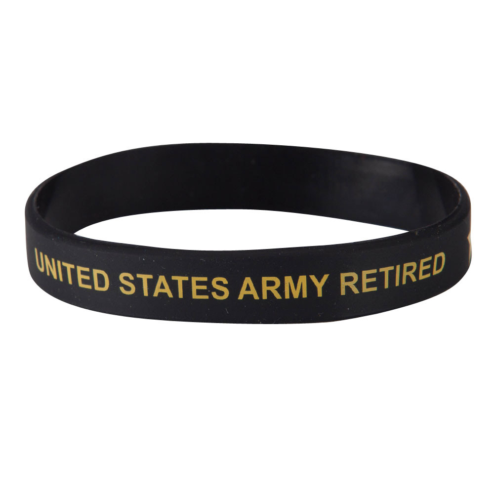 Army Silicone Wristband - Black - Hats and Caps Online Shop - Hip Head Gear