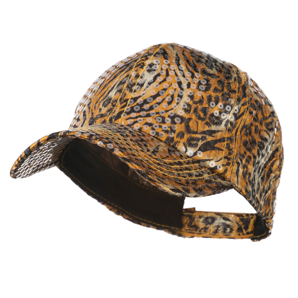 Animal Print and Sequin Cap - Gold - Hats and Caps Online Shop - Hip Head Gear