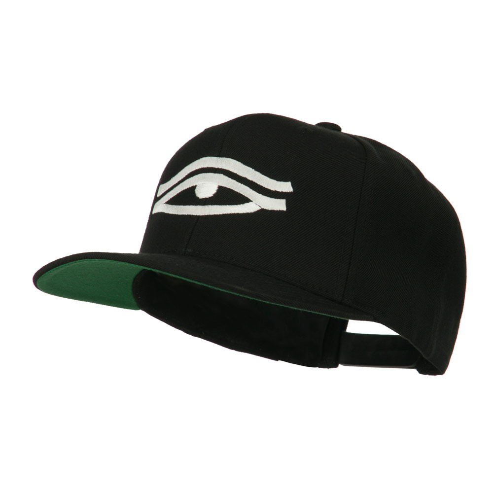 All Seeing Eye Embroidered Flat Bill Cap - Black - Hats and Caps Online Shop - Hip Head Gear