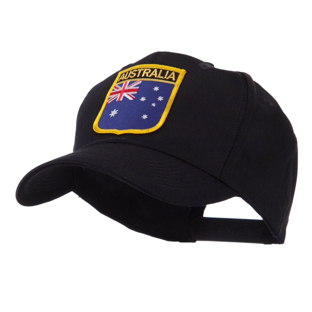 Asia Australia and Other Flag Shield Patch Cap - Australia - Hats and Caps Online Shop - Hip Head Gear
