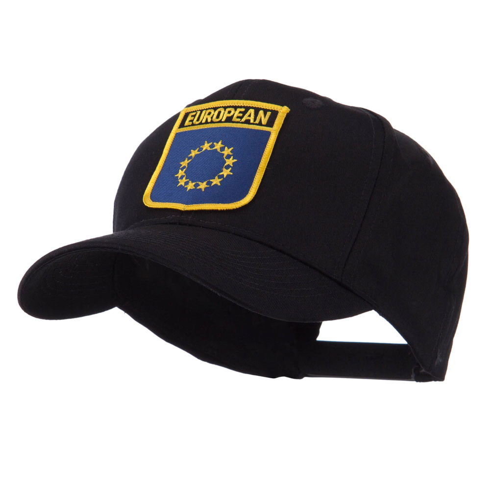 Asia Australia and Other Flag Shield Patch Cap - European - Hats and Caps Online Shop - Hip Head Gear