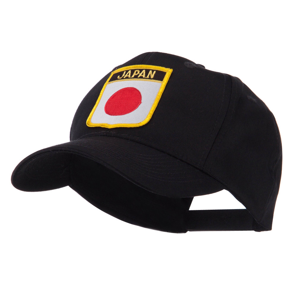 Asia Australia and Other Flag Shield Patch Cap - Japan - Hats and Caps Online Shop - Hip Head Gear