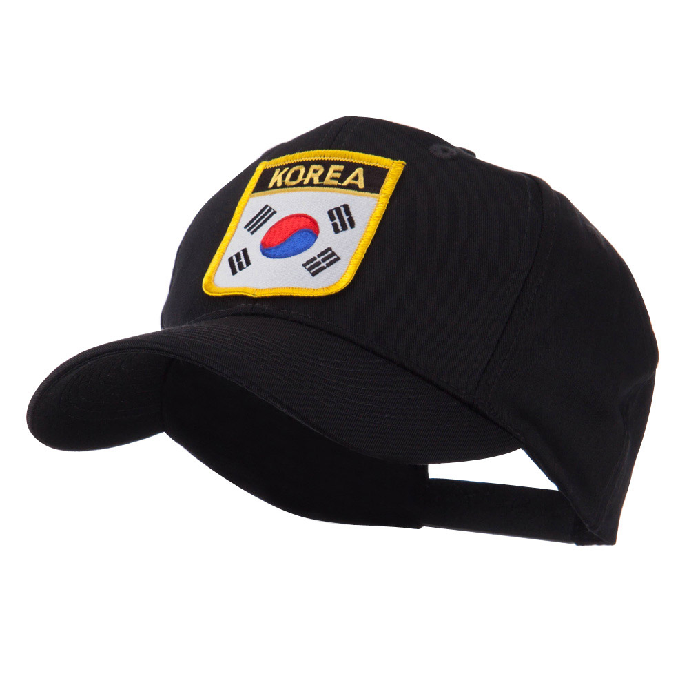 Asia Australia and Other Flag Shield Patch Cap - Korea - Hats and Caps Online Shop - Hip Head Gear