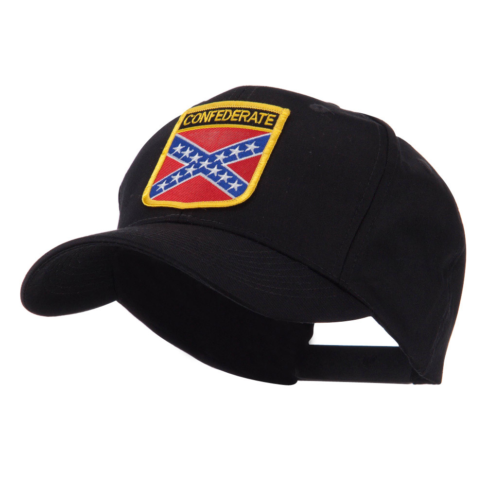 Asia Australia and Other Flag Shield Patch Cap - Confederate - Hats and Caps Online Shop - Hip Head Gear