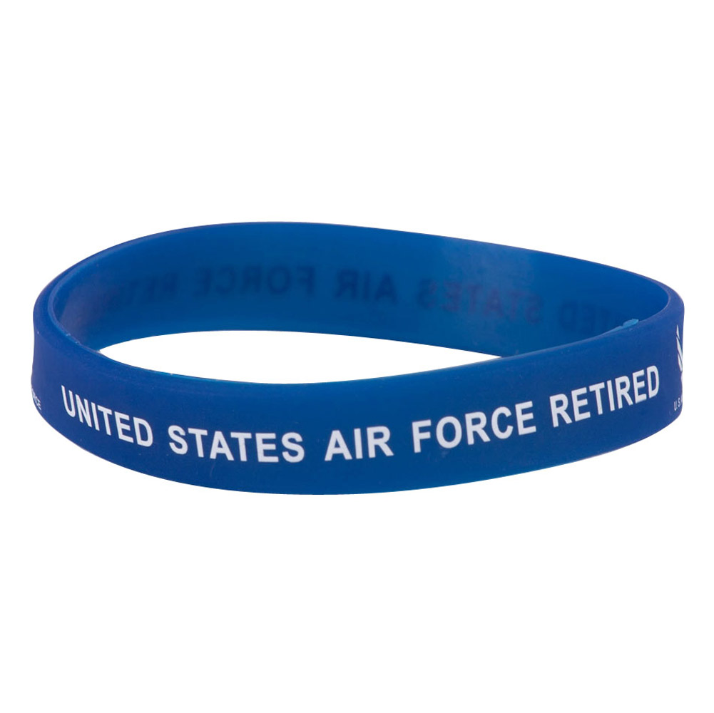 Air Force Silicone Wristbands - Retired - Hats and Caps Online Shop - Hip Head Gear