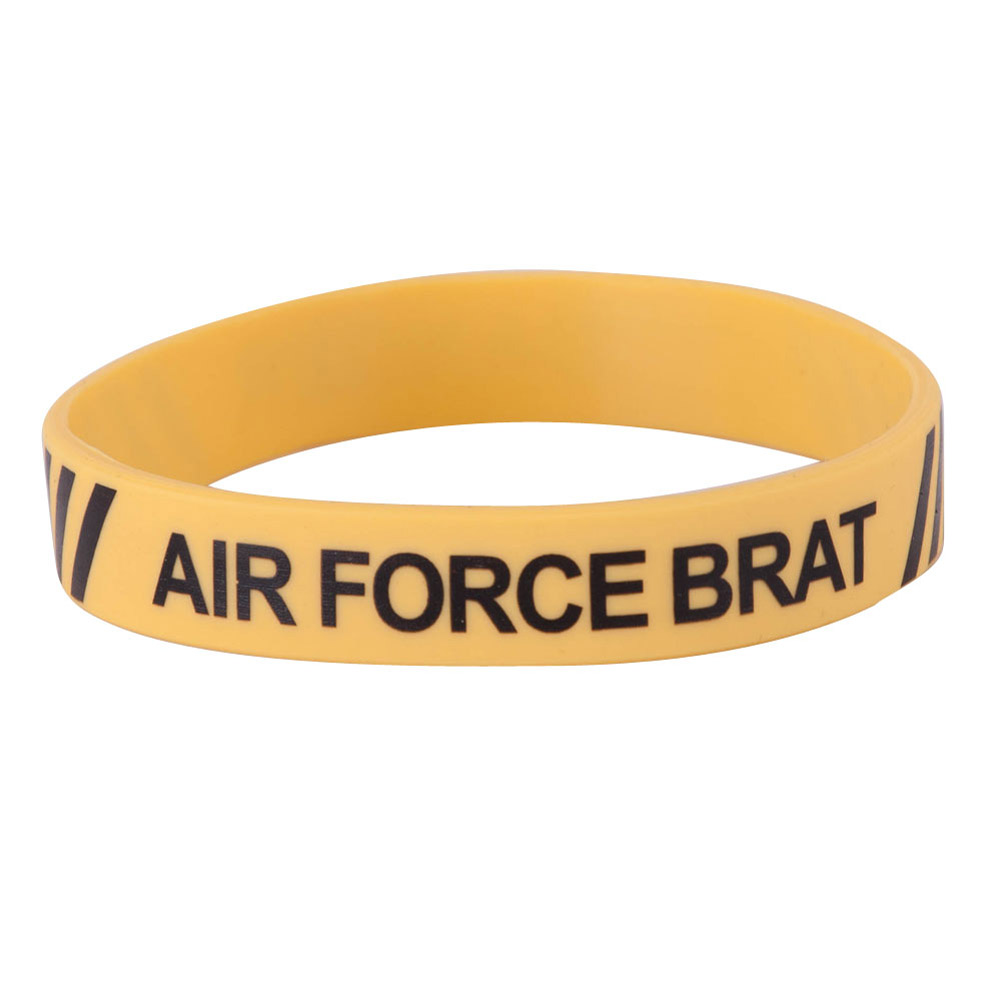 Air Force Silicone Wristbands - Yellow - Hats and Caps Online Shop - Hip Head Gear
