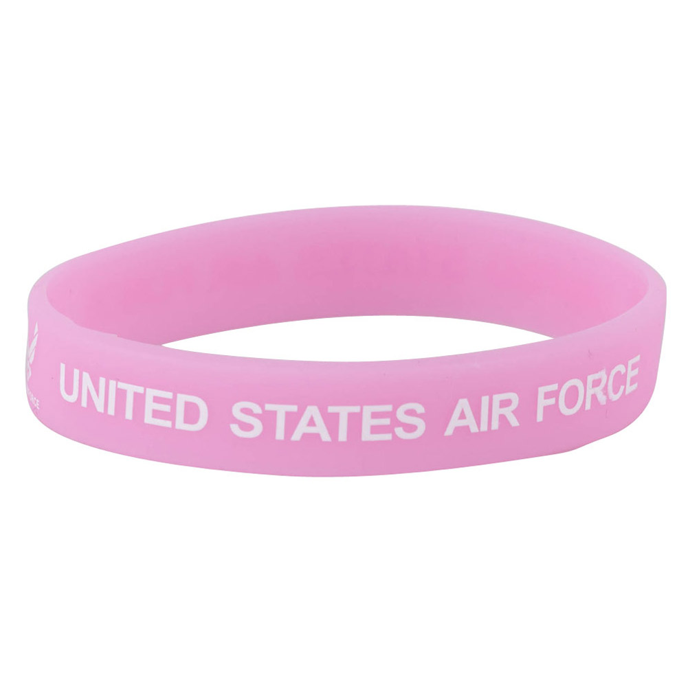 Air Force Silicone Wristbands - Pink - Hats and Caps Online Shop - Hip Head Gear