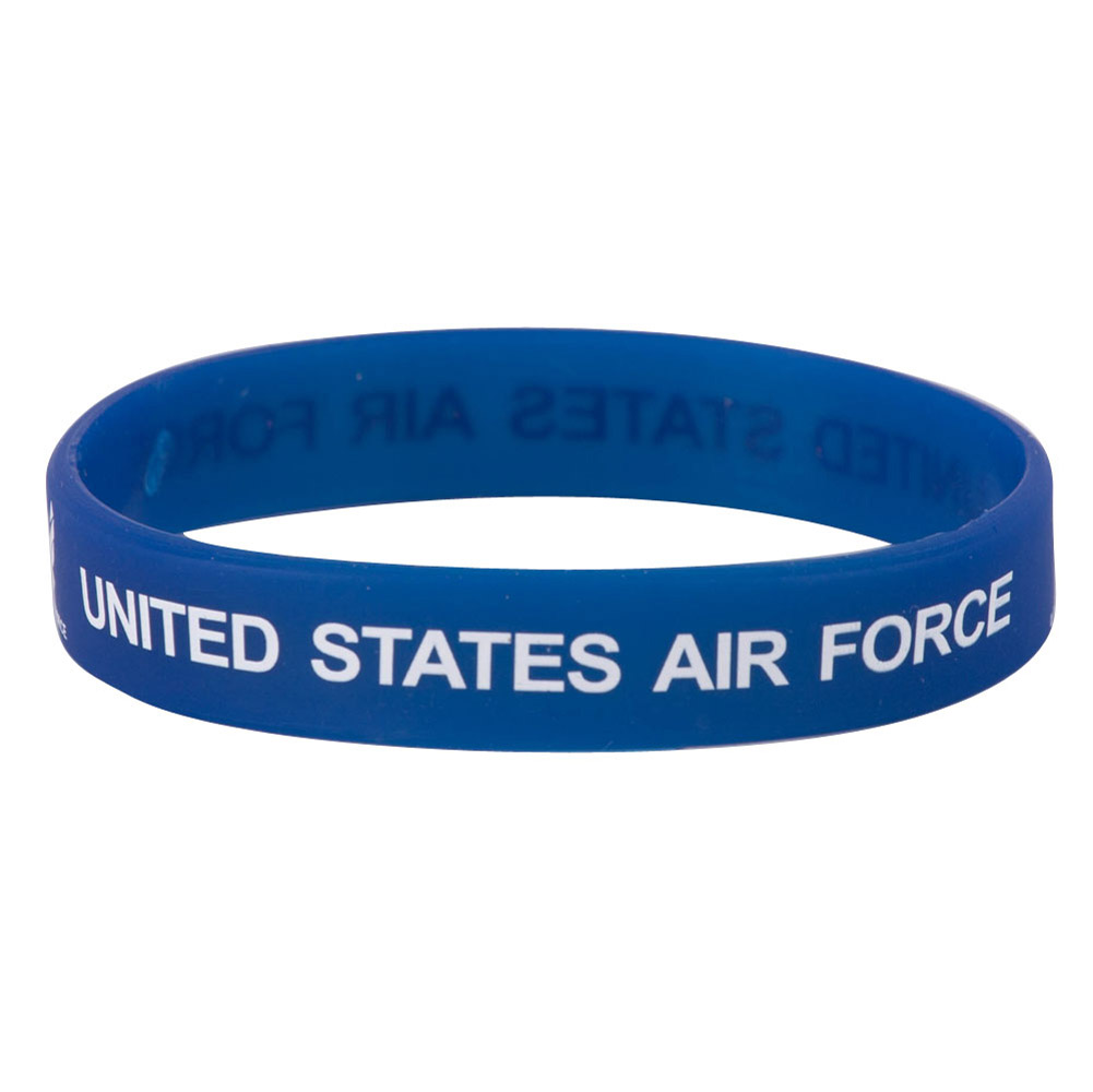 Air Force Silicone Wristbands - Blue - Hats and Caps Online Shop - Hip Head Gear