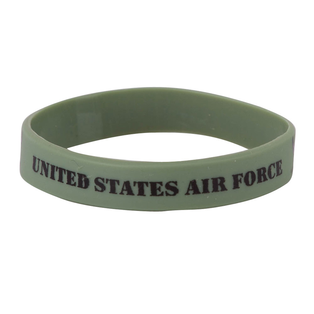Air Force Silicone Wristbands - Olive - Hats and Caps Online Shop - Hip Head Gear