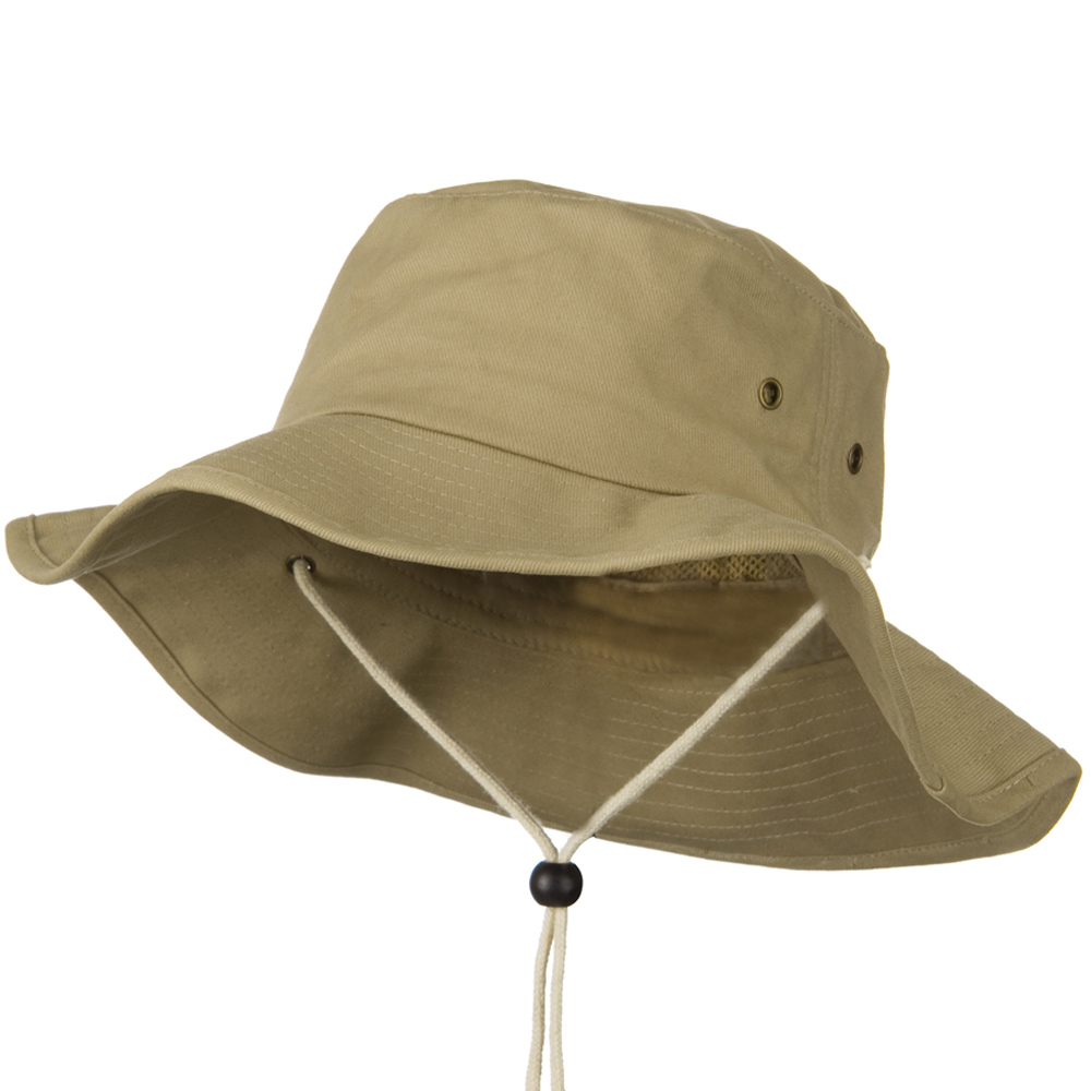Big Size Cotton Australian Hat - Khaki - Hats and Caps Online Shop - Hip Head Gear