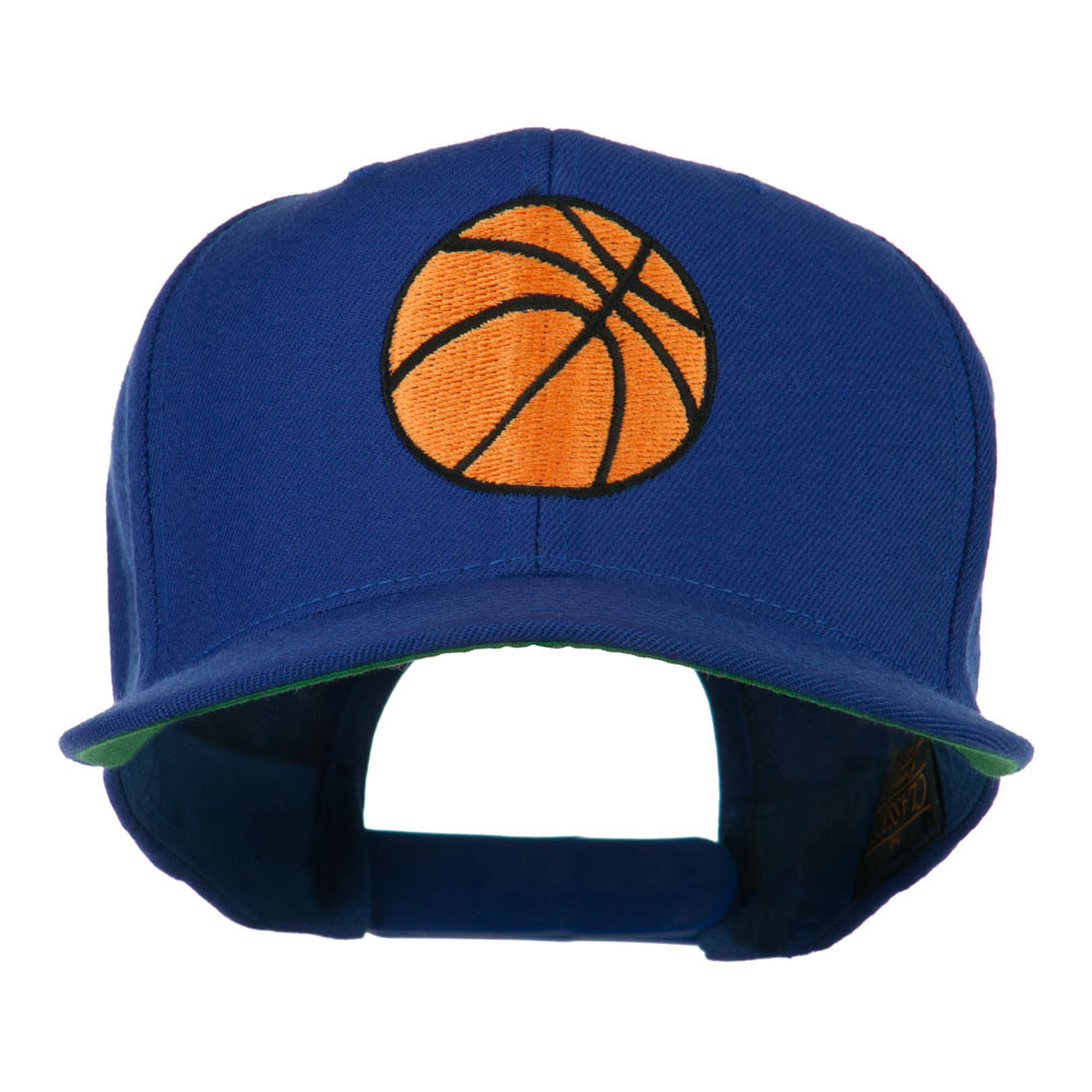 Basketball Embroidered Flat Bill Cap - Royal - Hats and Caps Online Shop - Hip Head Gear