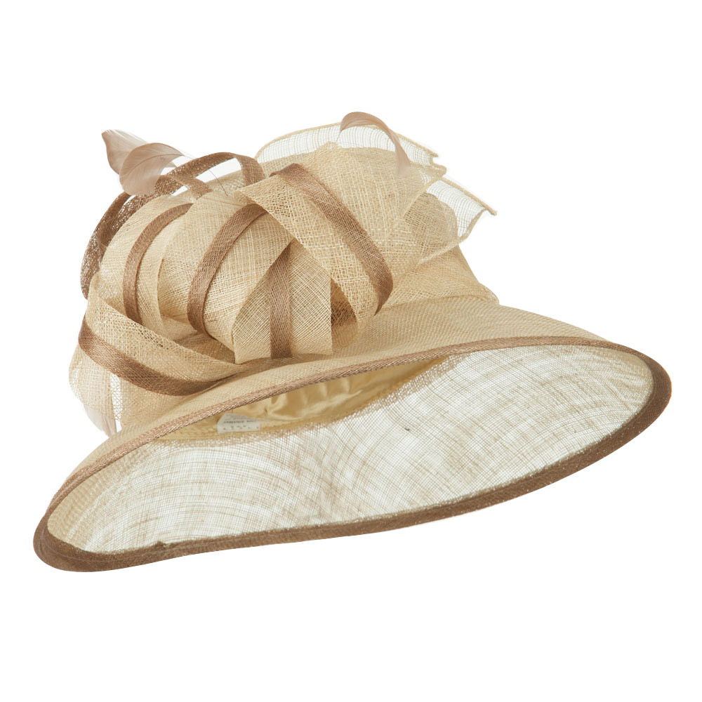 Women's Big Bow Accent Sinamay Hat - Natural