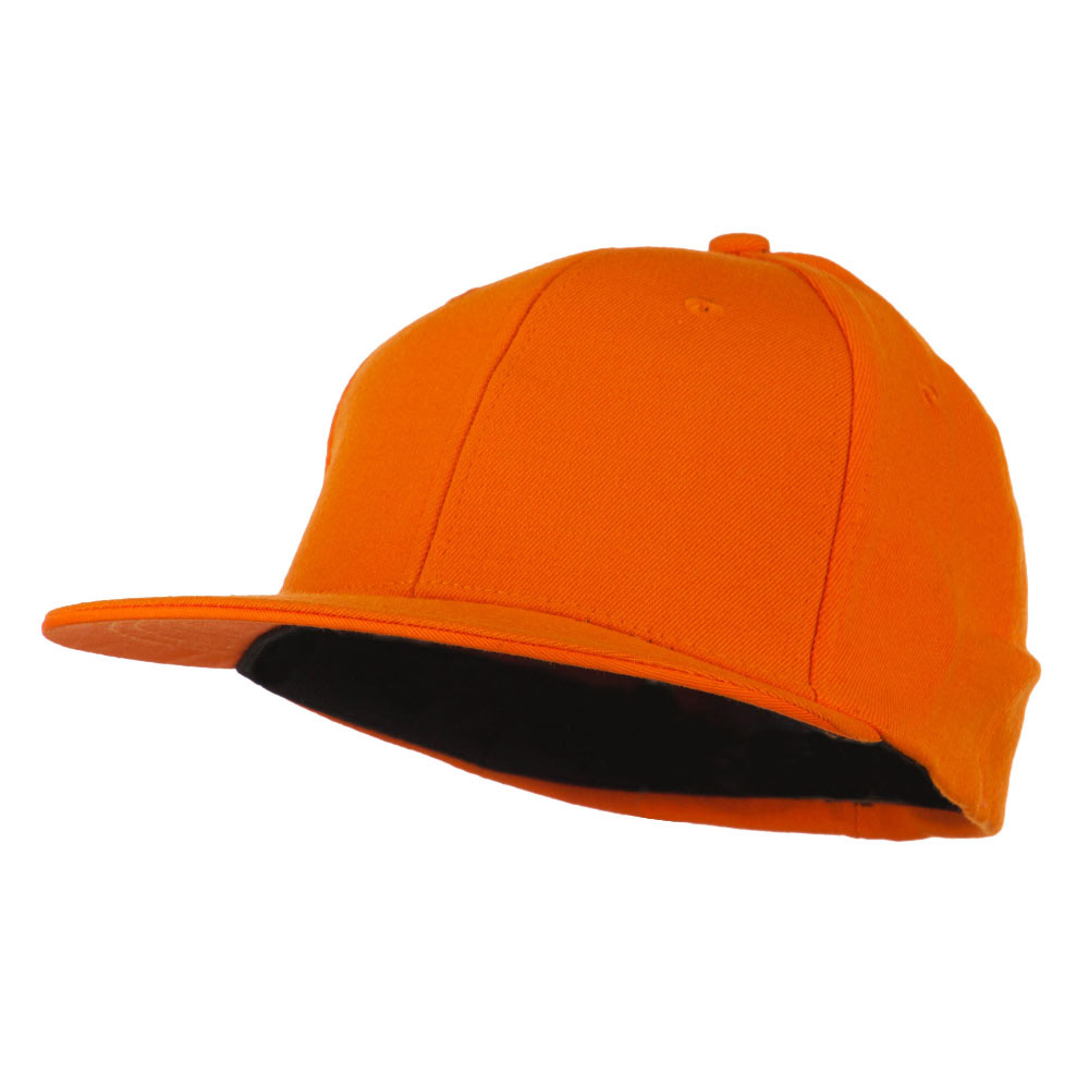 Flat Bill Fitted Flex Cap - Orange - Hats and Caps Online Shop - Hip Head Gear