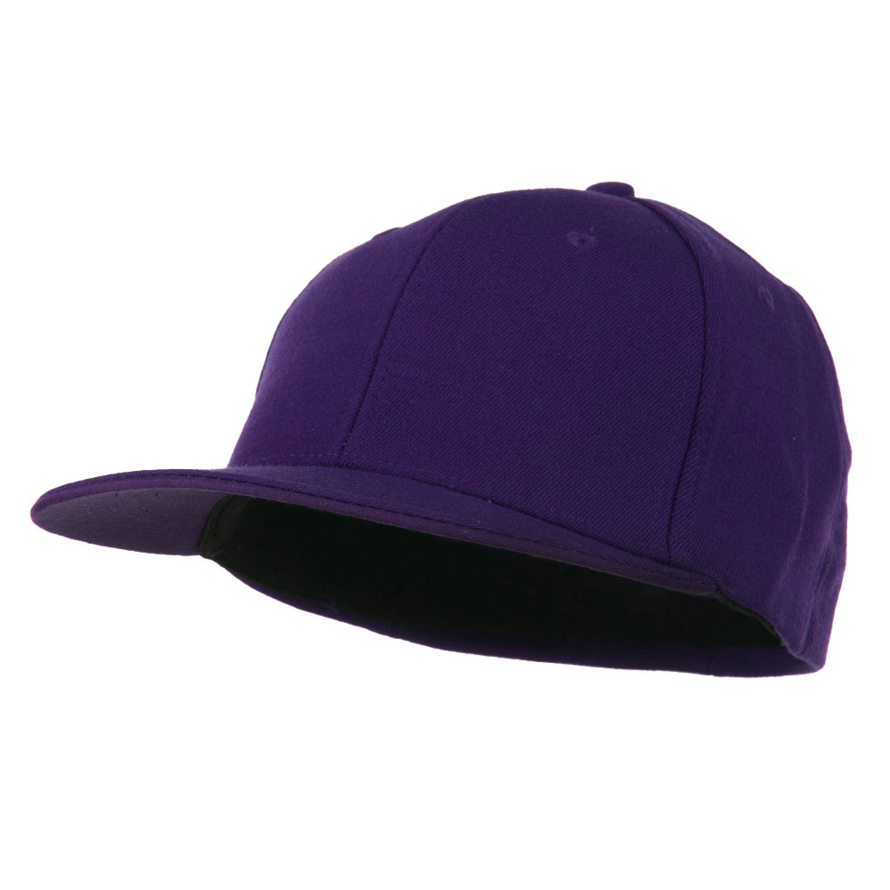 Flat Bill Fitted Flex Cap - Purple - Hats and Caps Online Shop - Hip Head Gear