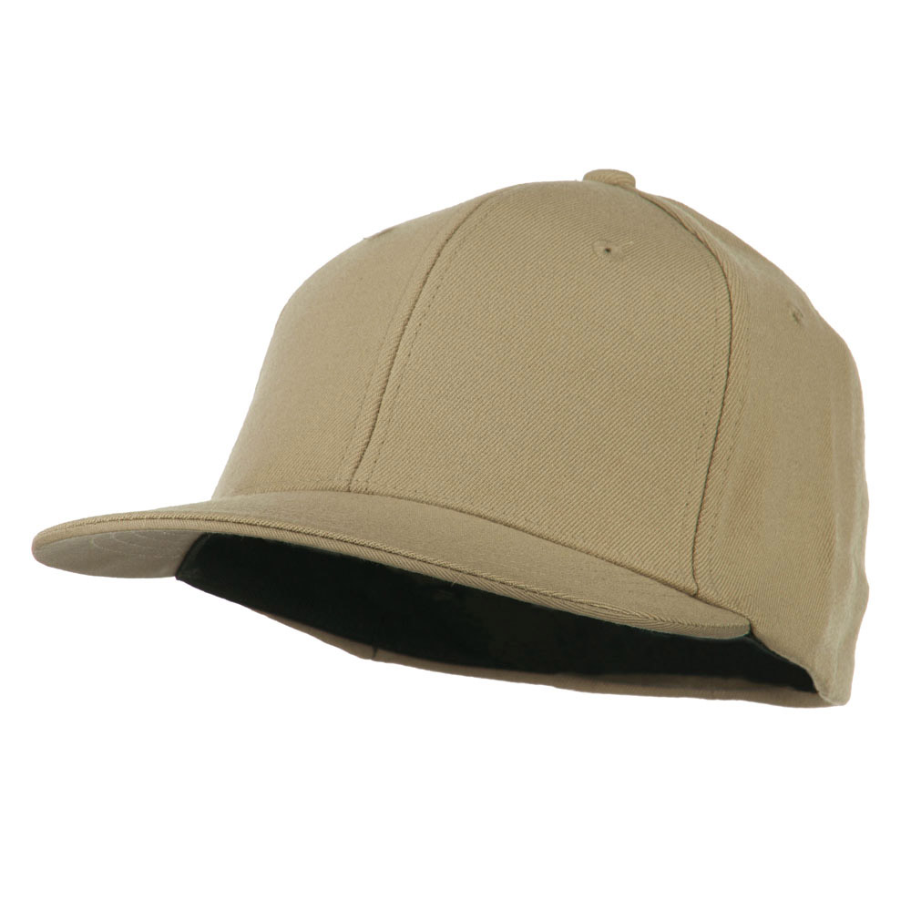 Flat Bill Fitted Flex Cap - Khaki - Hats and Caps Online Shop - Hip Head Gear