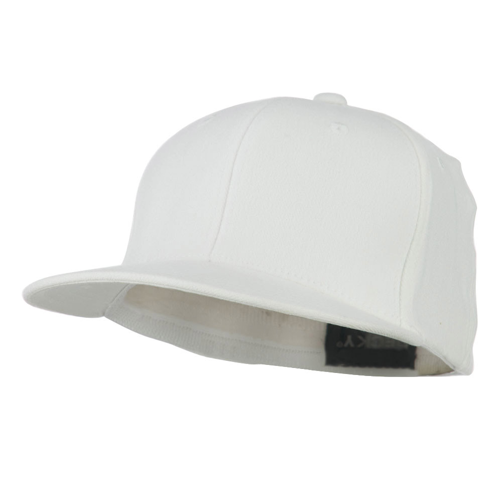 Flat Bill Fitted Flex Cap - White - Hats and Caps Online Shop - Hip Head Gear