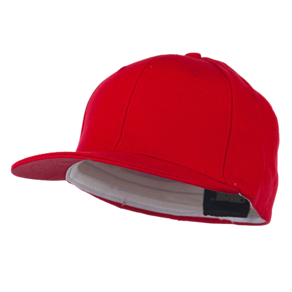 Flat Bill Fitted Flex Cap - Red - Hats and Caps Online Shop - Hip Head Gear