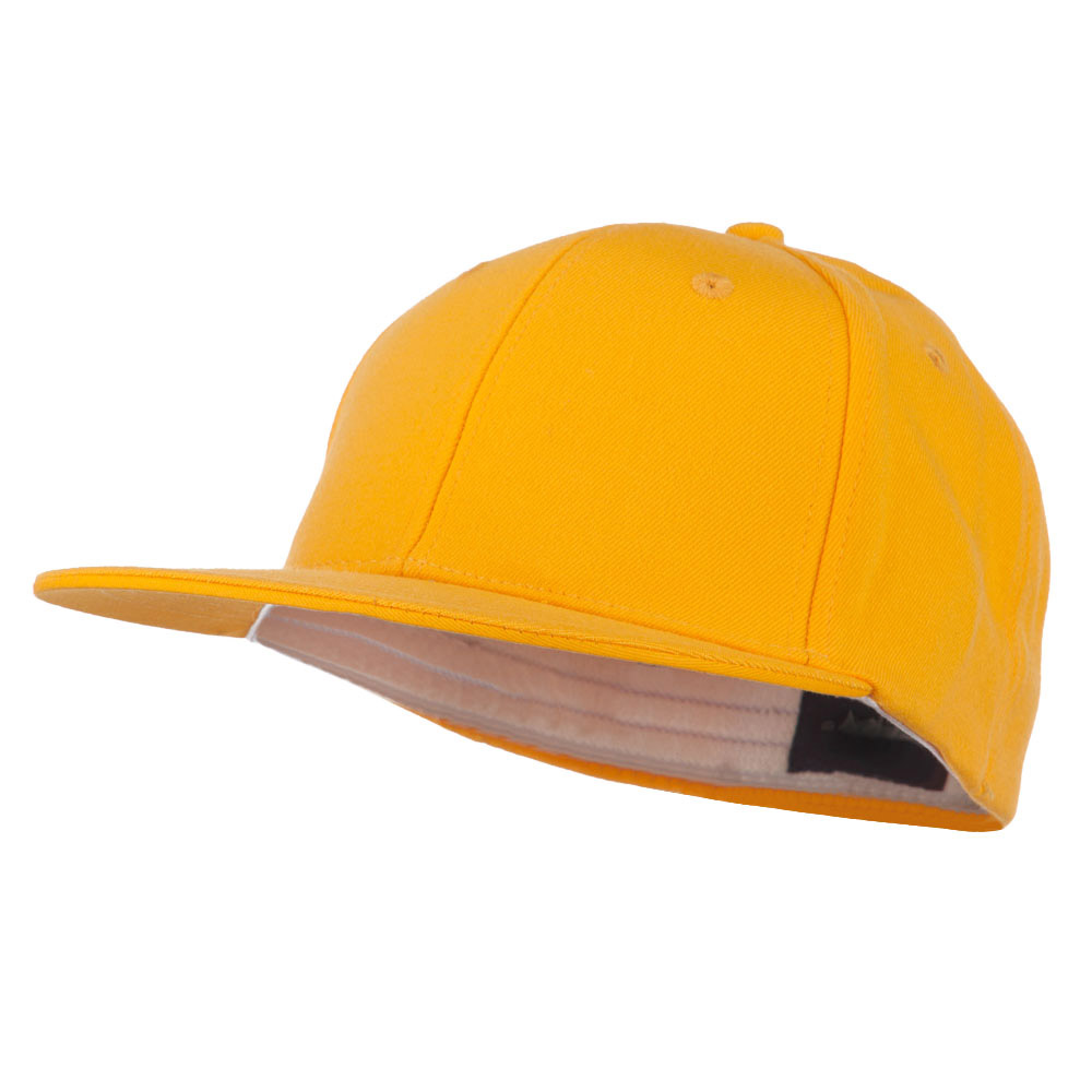 Flat Bill Fitted Flex Cap - Yellow - Hats and Caps Online Shop - Hip Head Gear