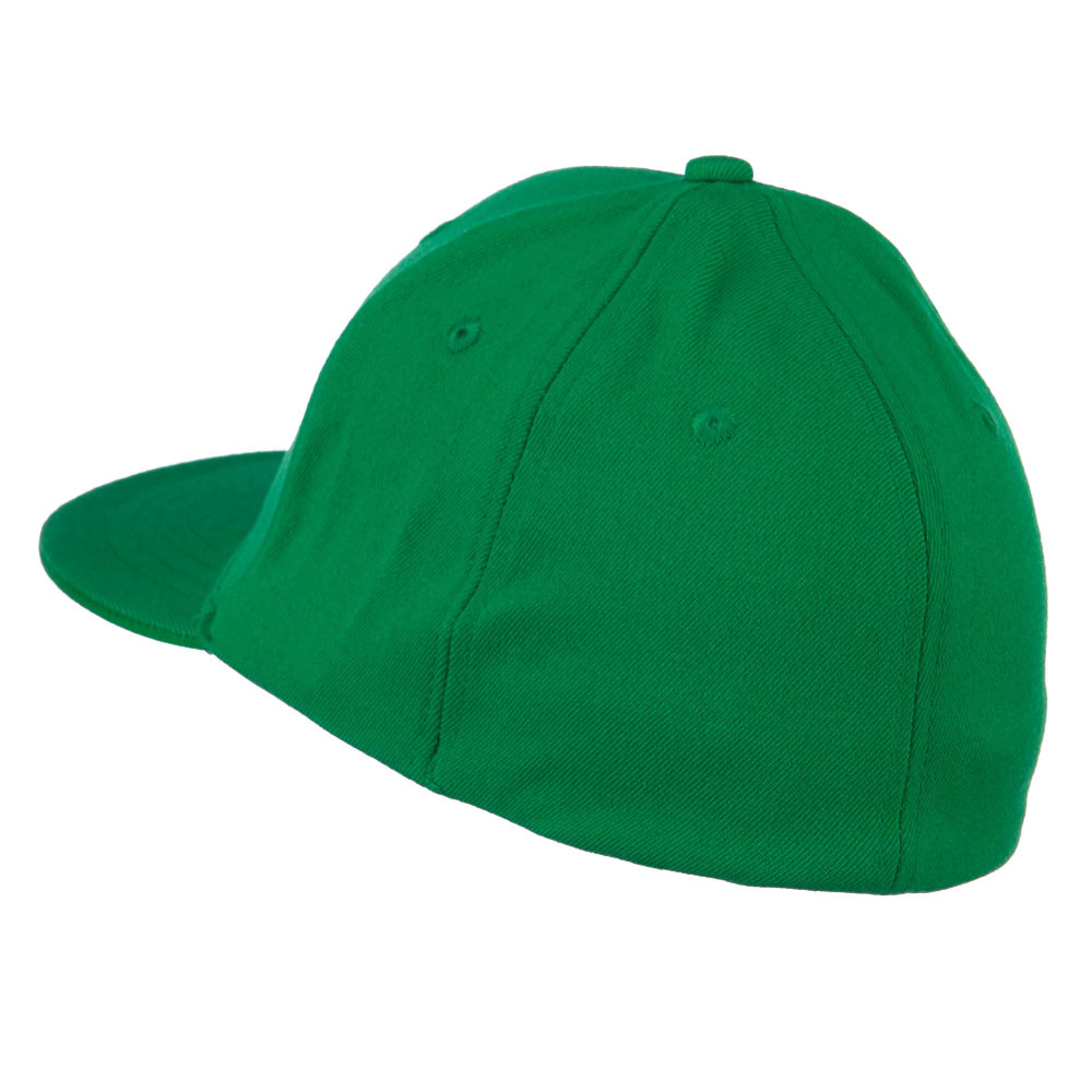 Flat Bill Fitted Flex Cap - Kelly - Hats and Caps Online Shop - Hip Head Gear