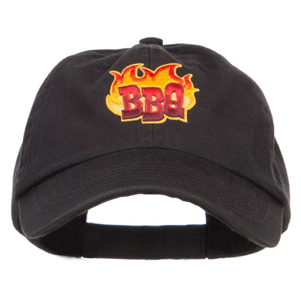 BBQ Cooking Patched Pet Spun Cap - Black