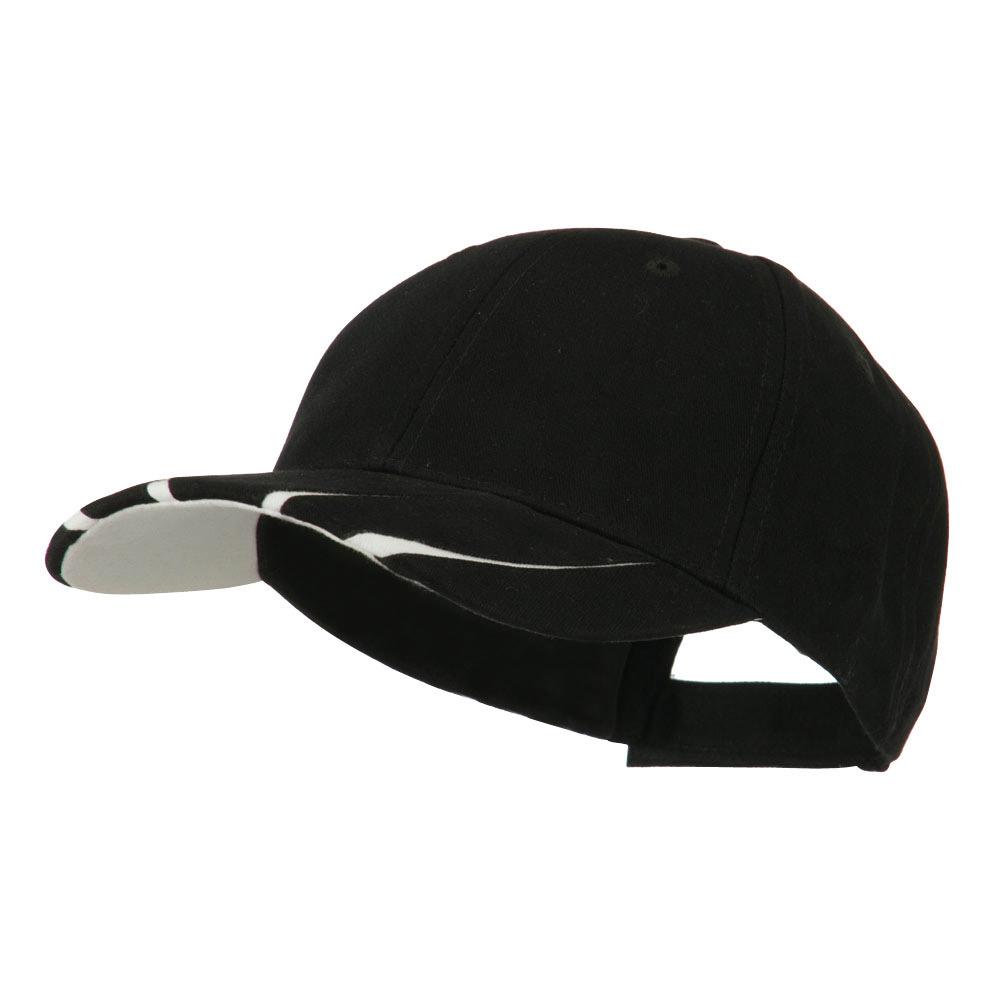 Legend Cotton Brushed Twill Ball Cap - Black White - Hats and Caps Online Shop - Hip Head Gear
