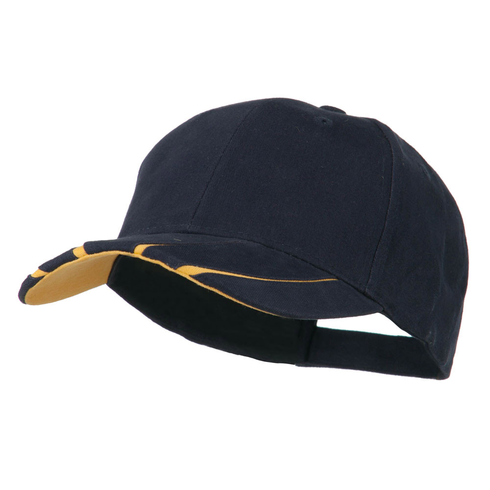 Legend Cotton Brushed Twill Ball Cap - Navy Gold - Hats and Caps Online Shop - Hip Head Gear