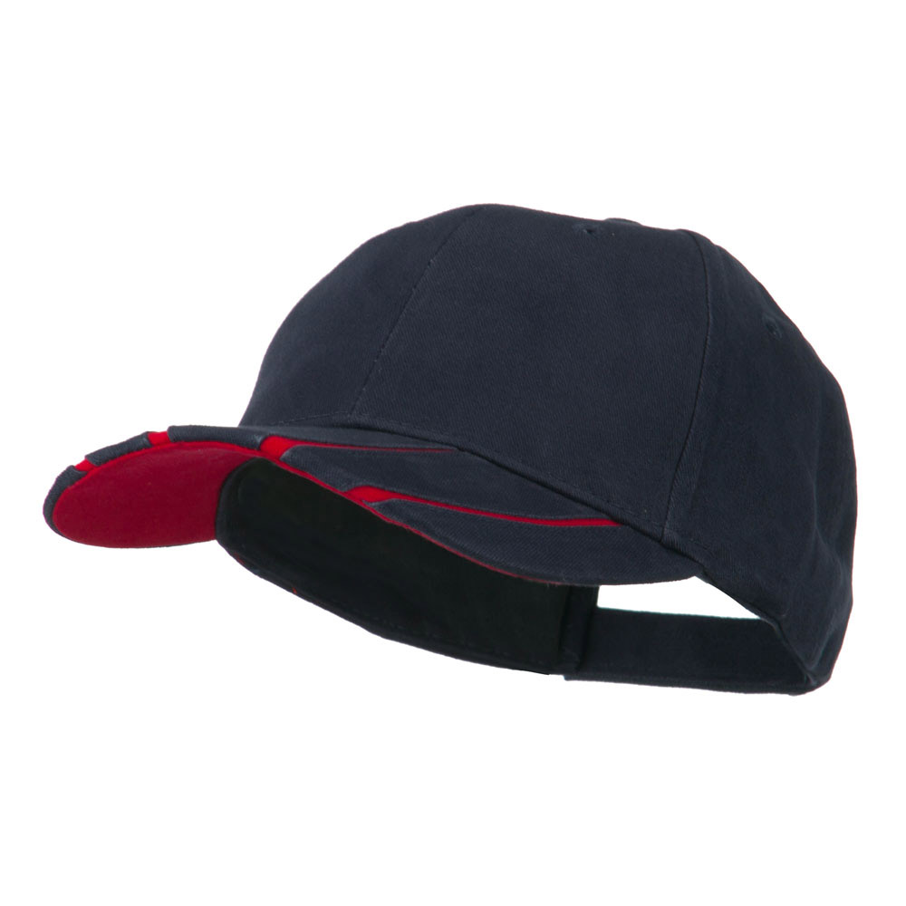 Legend Cotton Brushed Twill Ball Cap - Navy Red - Hats and Caps Online Shop - Hip Head Gear
