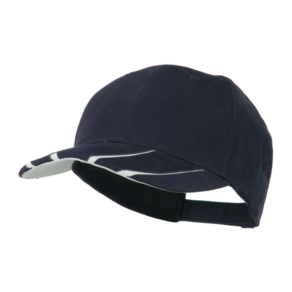 Legend Cotton Brushed Twill Ball Cap - Navy White - Hats and Caps Online Shop - Hip Head Gear