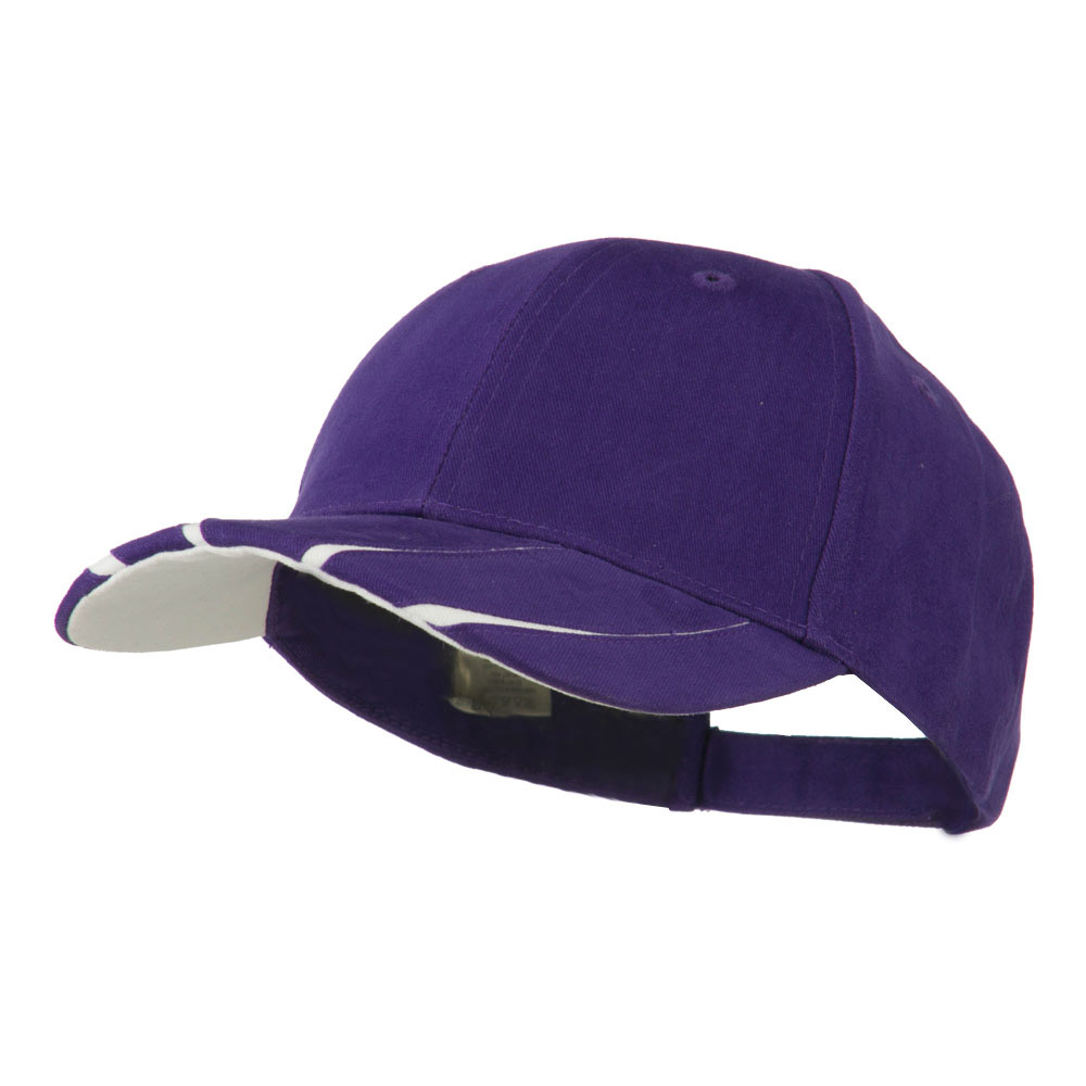 Legend Cotton Brushed Twill Ball Cap - Purple White - Hats and Caps Online Shop - Hip Head Gear
