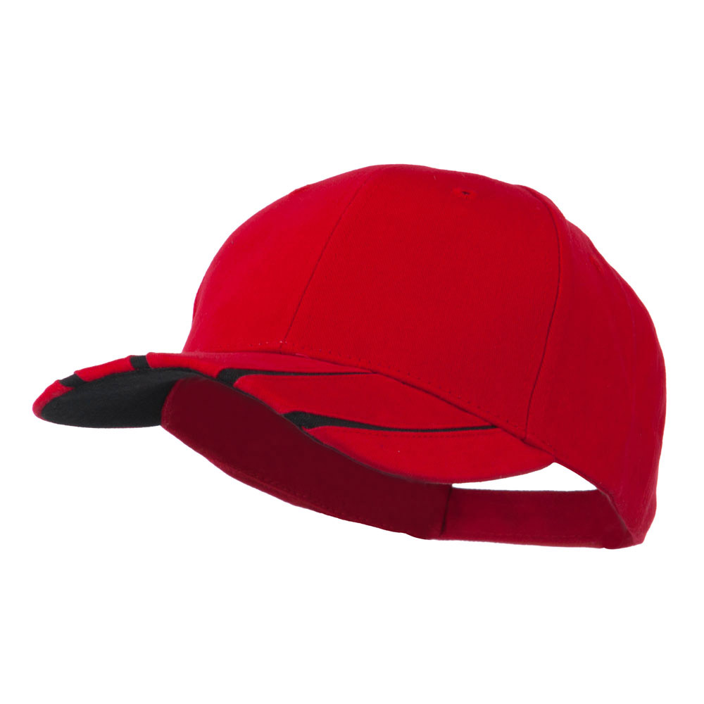 Legend Cotton Brushed Twill Ball Cap - Red Black - Hats and Caps Online Shop - Hip Head Gear