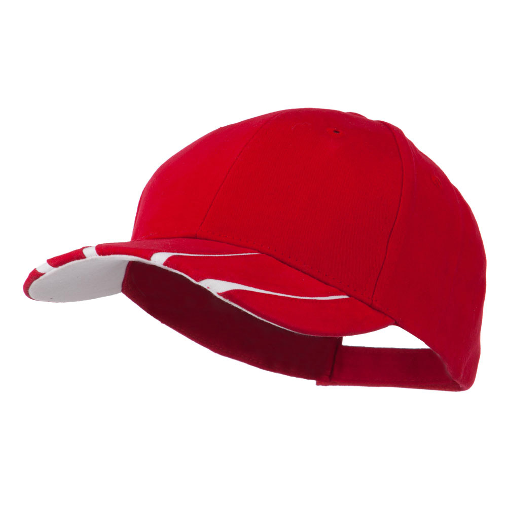 Legend Cotton Brushed Twill Ball Cap - Red White - Hats and Caps Online Shop - Hip Head Gear