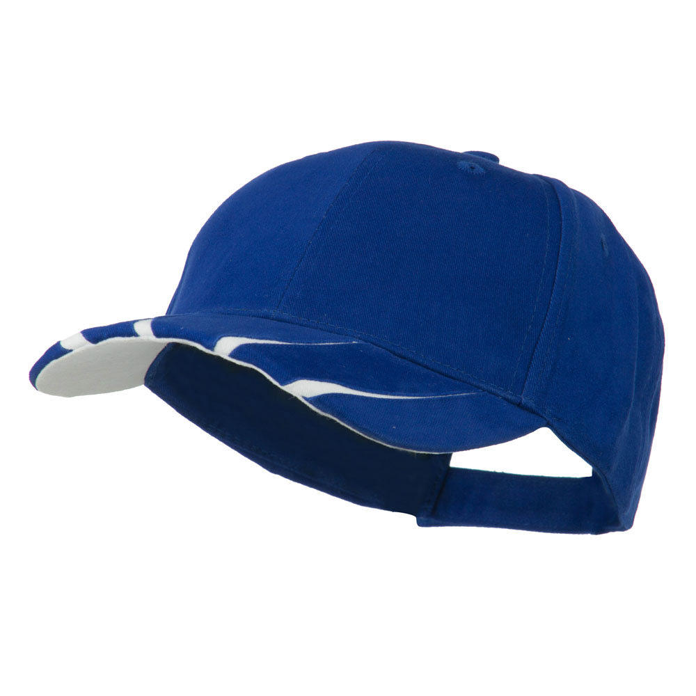 Legend Cotton Brushed Twill Ball Cap - Royal White - Hats and Caps Online Shop - Hip Head Gear