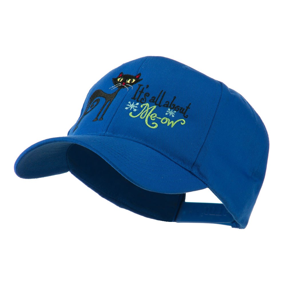 Halloween Black Cat Embroidered Cap - Royal - Hats and Caps Online Shop - Hip Head Gear