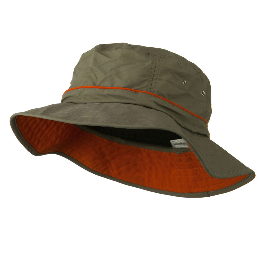 Big Size Adjustable Draw Cord Talson UV Bucket Hat - Olive - Hats and Caps Online Shop - Hip Head Gear