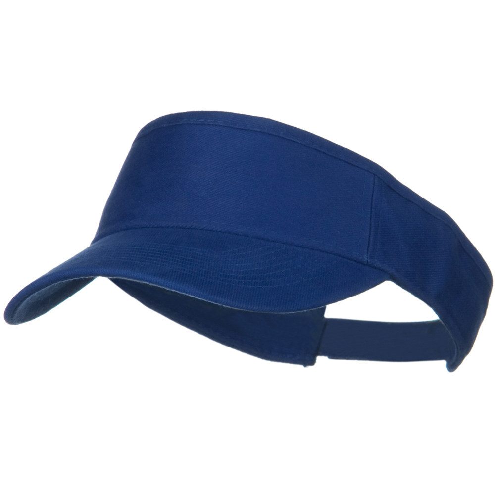 Brushed Bull Denim Sun Visor - Royal - Hats and Caps Online Shop - Hip Head Gear