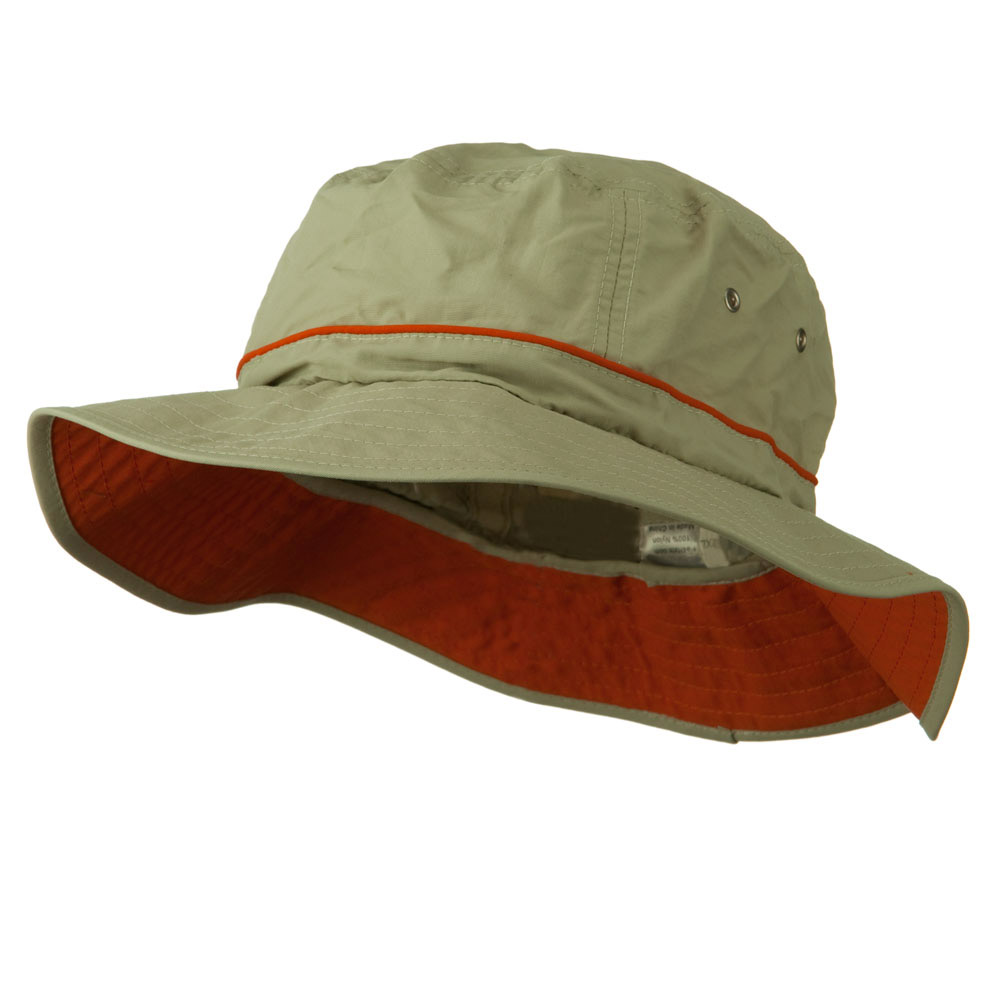 Big Size Adjustable Draw Cord Talson UV Bucket Hat - Khaki - Hats and Caps Online Shop - Hip Head Gear