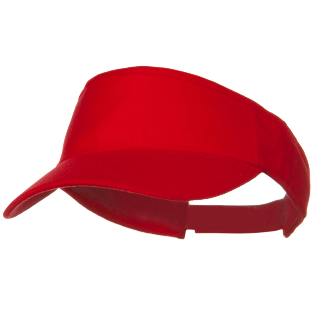 Brushed Bull Denim Sun Visor - Red - Hats and Caps Online Shop - Hip Head Gear