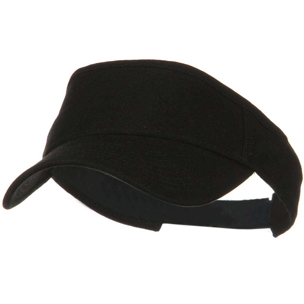 Brushed Bull Denim Sun Visor - Black - Hats and Caps Online Shop - Hip Head Gear