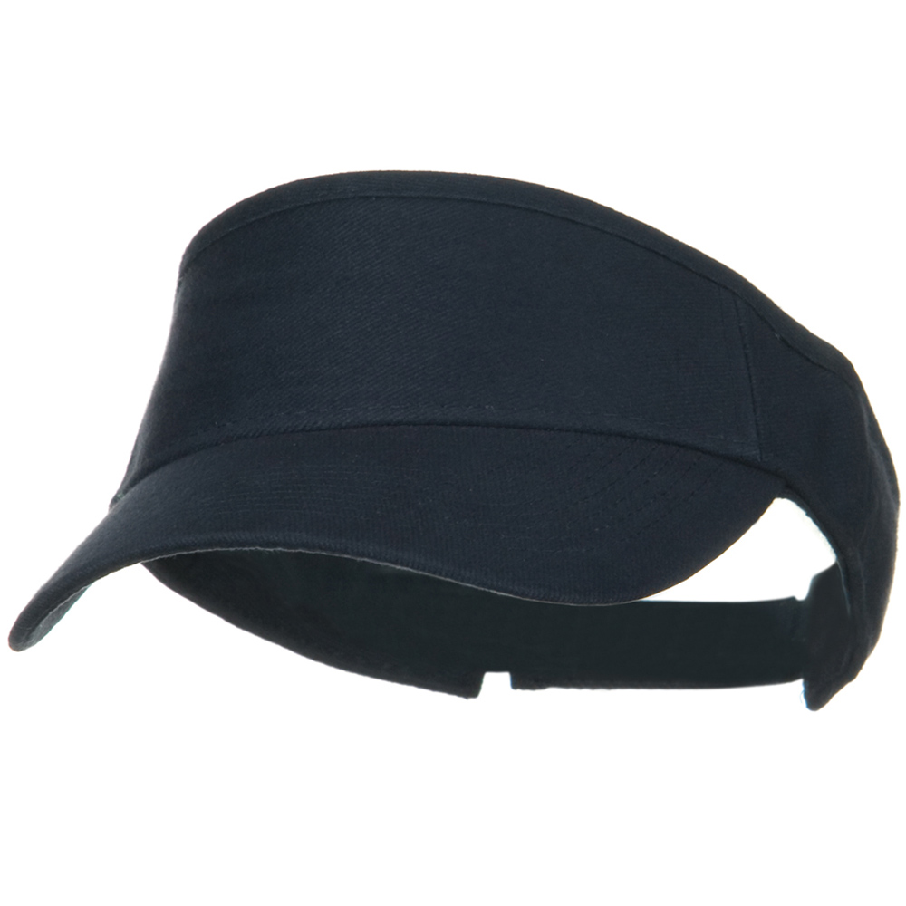 Brushed Bull Denim Sun Visor - Navy - Hats and Caps Online Shop - Hip Head Gear