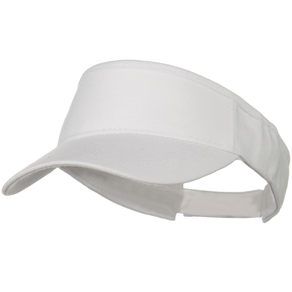 Brushed Bull Denim Sun Visor - White - Hats and Caps Online Shop - Hip Head Gear