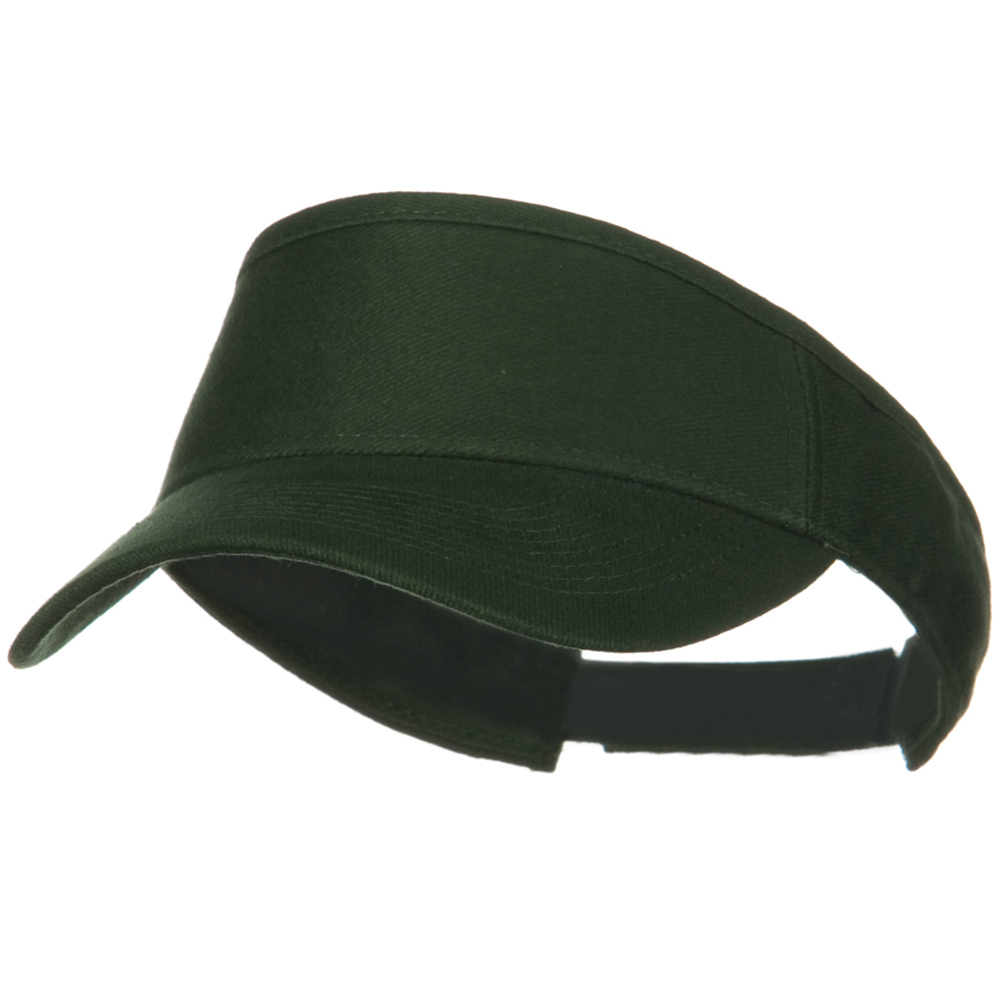 Brushed Bull Denim Sun Visor - Dark Green - Hats and Caps Online Shop - Hip Head Gear