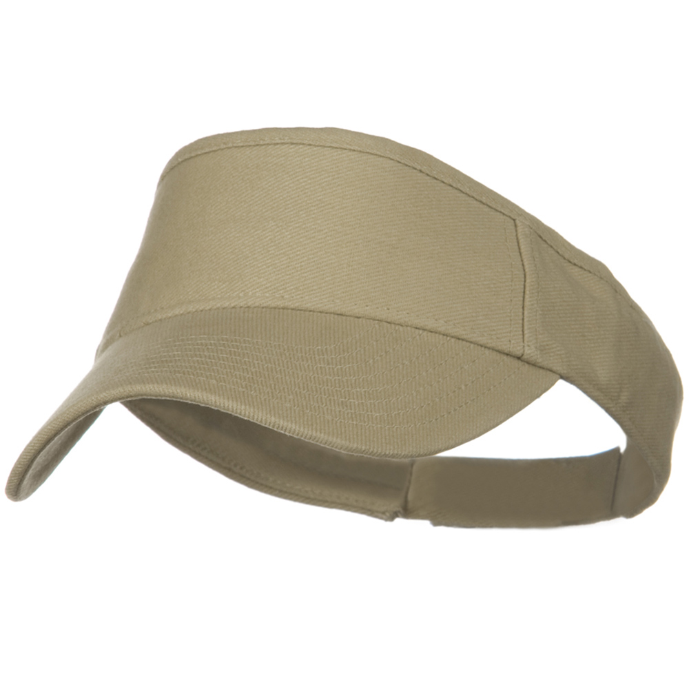 Brushed Bull Denim Sun Visor - Khaki - Hats and Caps Online Shop - Hip Head Gear