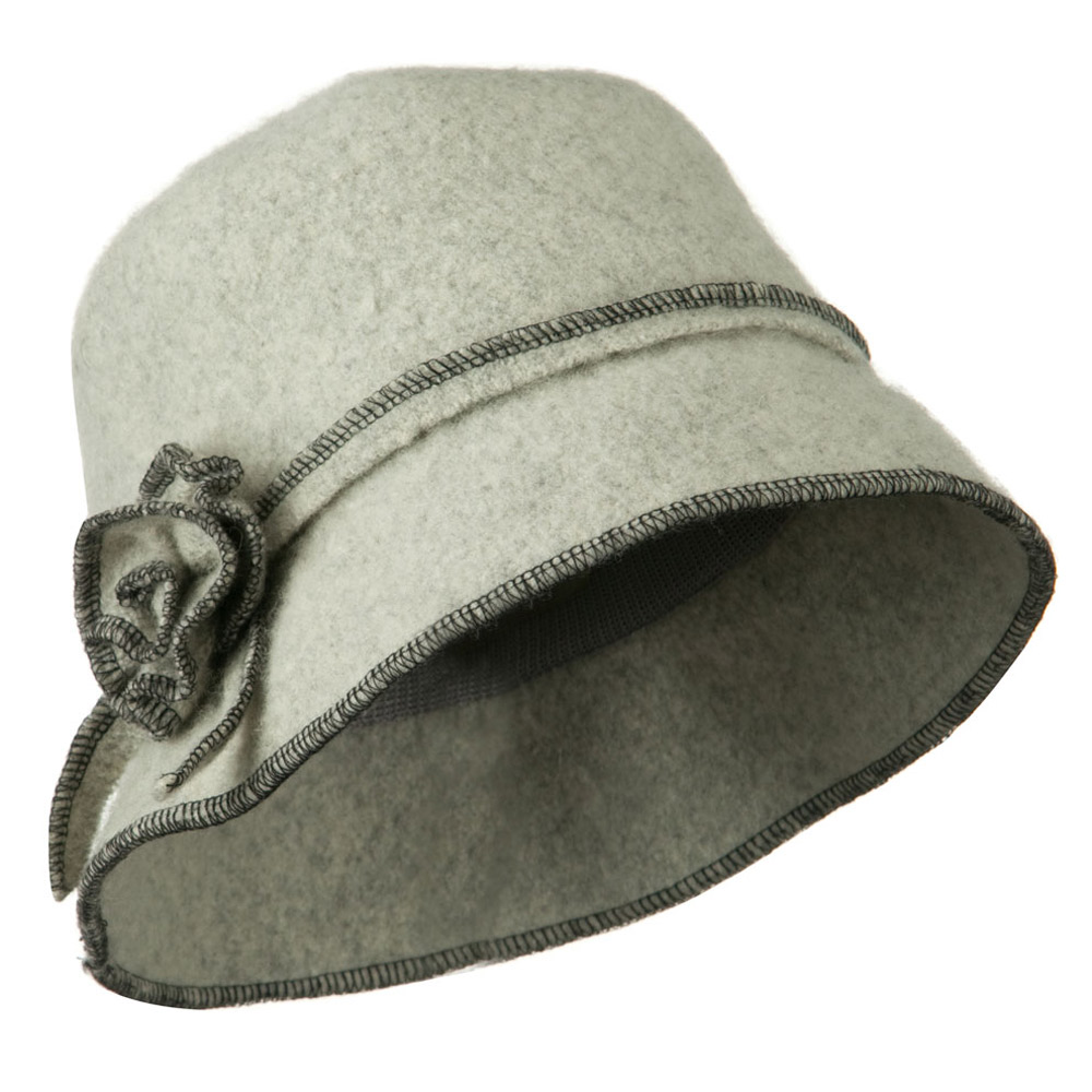 Boiled Wool Woman's Bucket Hat - Heather Grey - Hats and Caps Online Shop - Hip Head Gear
