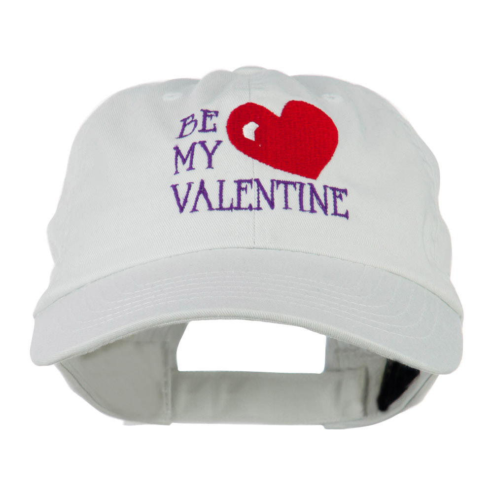 Be My Valentine Embroidery Cap - White - Hats and Caps Online Shop - Hip Head Gear