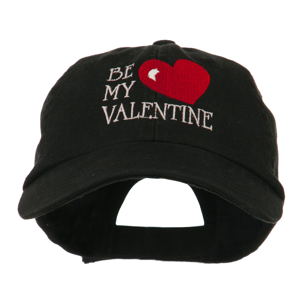 Be My Valentine Embroidery Cap - Black - Hats and Caps Online Shop - Hip Head Gear