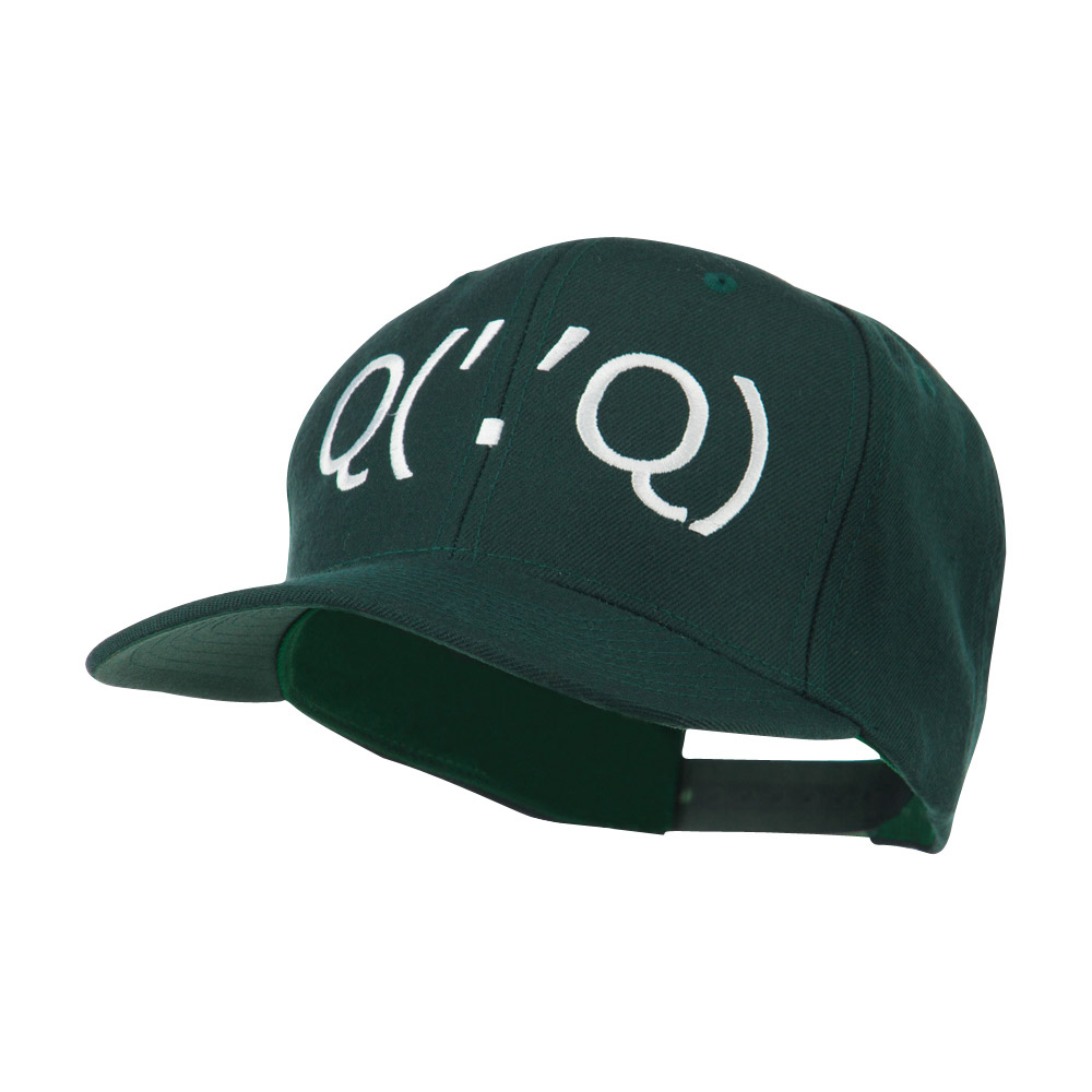 Boxing Face Emoticon Embroidered Snapback Cap - Spruce - Hats and Caps Online Shop - Hip Head Gear