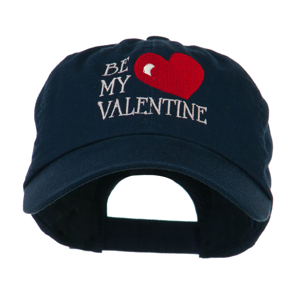 Be My Valentine Embroidery Cap - Navy - Hats and Caps Online Shop - Hip Head Gear